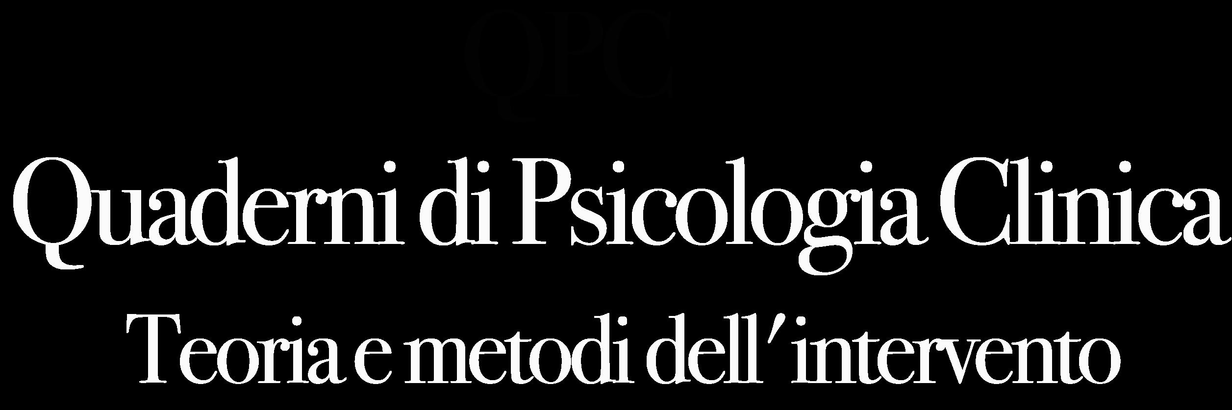 Quaderni di Psicologia Clinica
